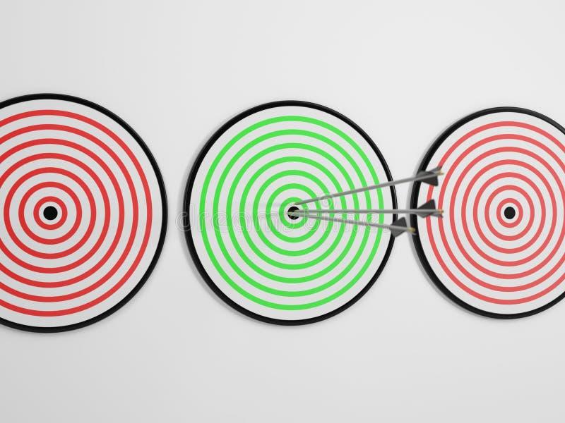 Focalisez et atteignez votre cible 2 illustration stock