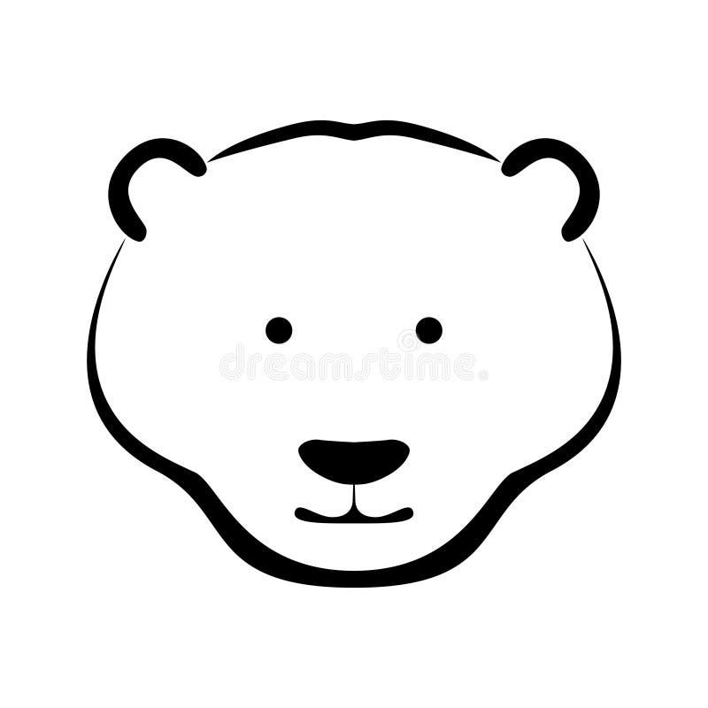 Focinho gráfico do urso polar do sinal ilustração royalty free