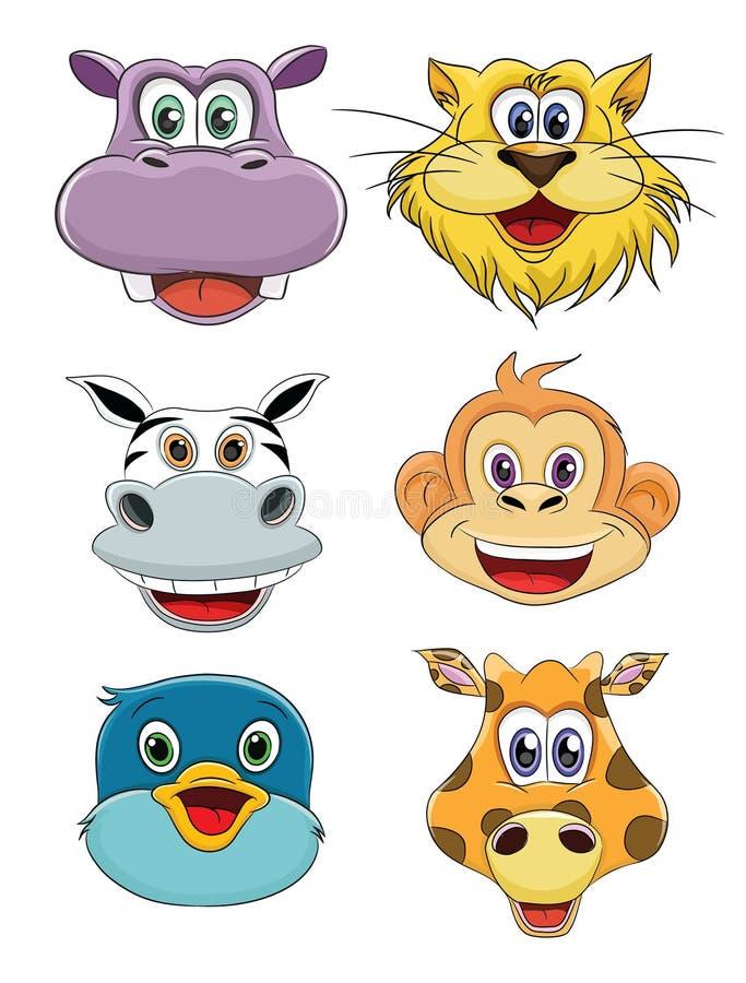 Focinhos dos animais ilustração royalty free