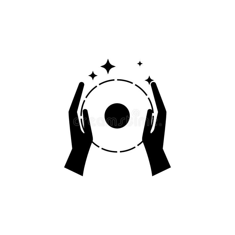 foco com um ícone da bola Elemento do ícone mágico popular Projeto gráfico da qualidade superior Sinais, ícone da coleção dos sím ilustração do vetor
