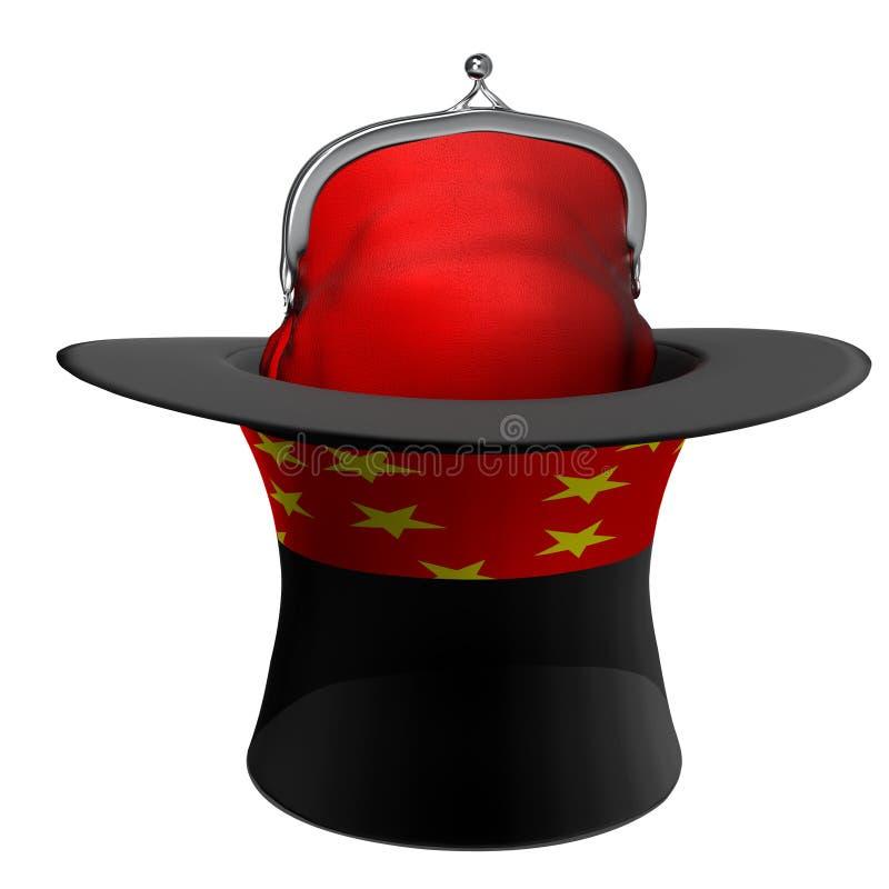 Foco da mágica do chapéu ilustração stock