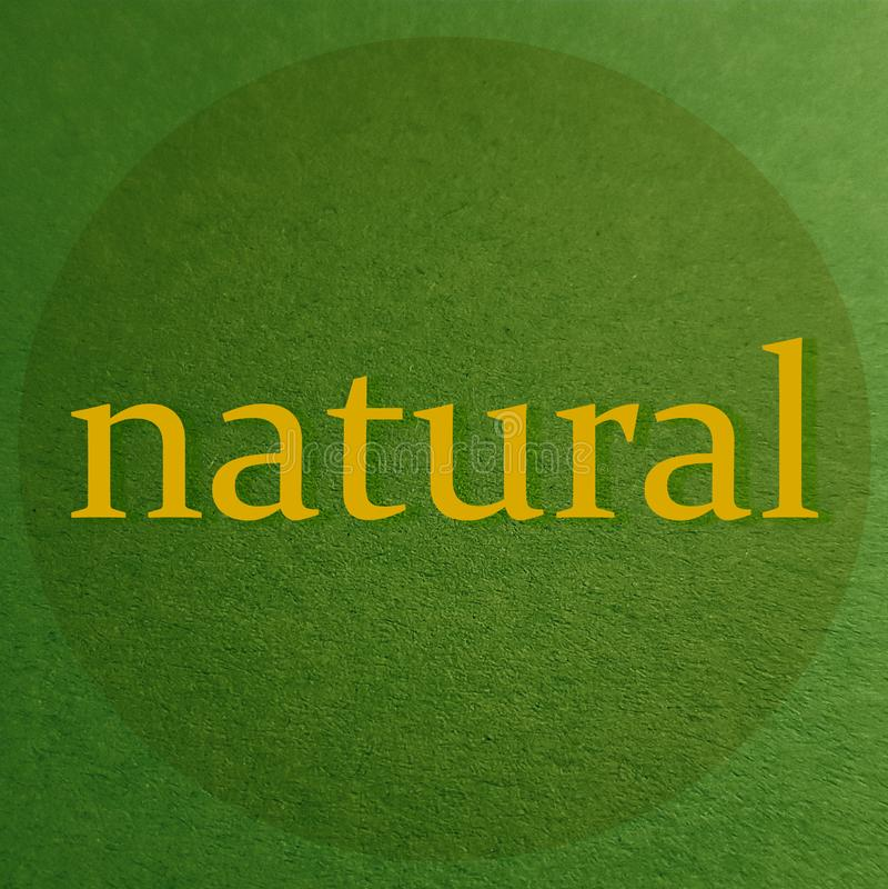 Foco em ingredientes naturais Foco em produtos naturais ilustração royalty free