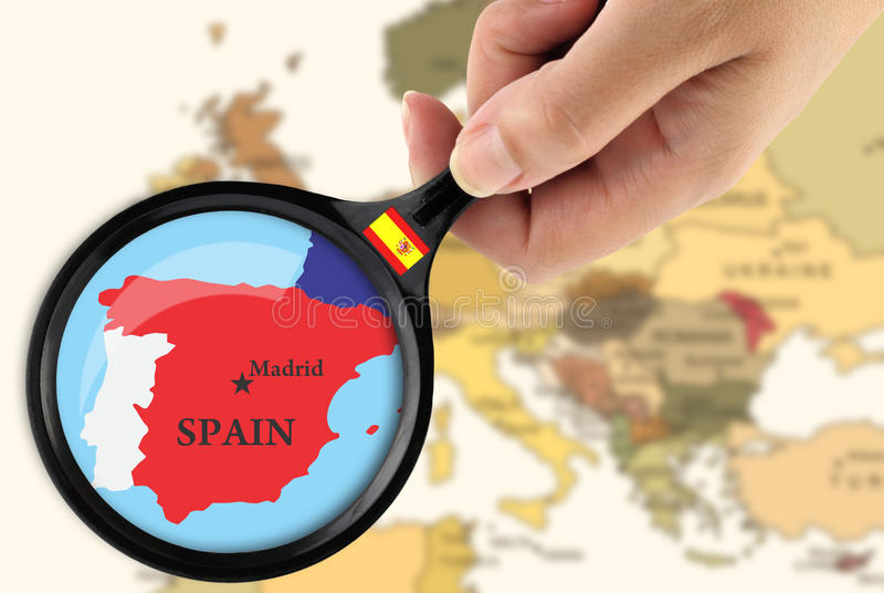 Foco em Spain ilustração royalty free