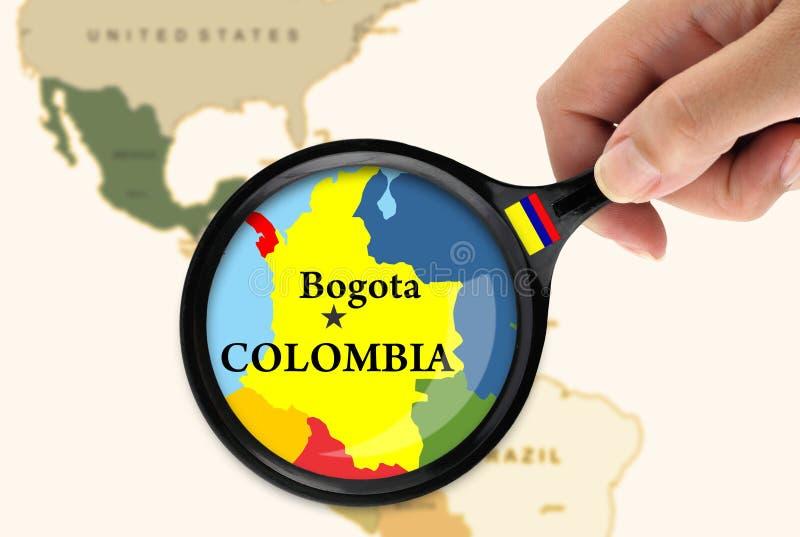 Foco en Colombia stock de ilustración