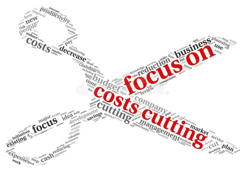 Foco en concepto del corte de costes ilustración del vector