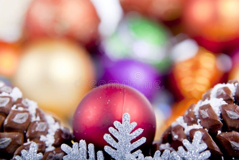 Foco macio da decoração do Natal do floco de neve fotos de stock royalty free