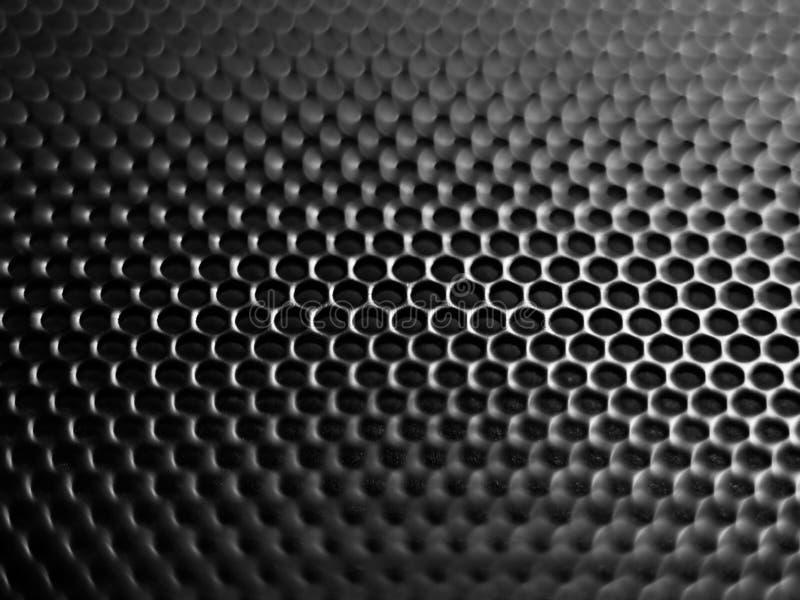 Foco seletivo de Minimalistic, fundo preto da malha imagens de stock