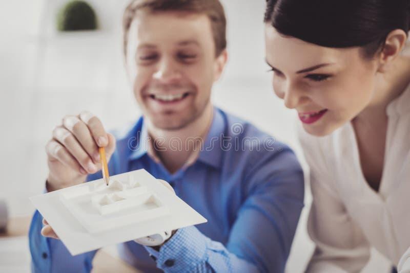 Foco seletivo de um modelo da casa foto de stock royalty free