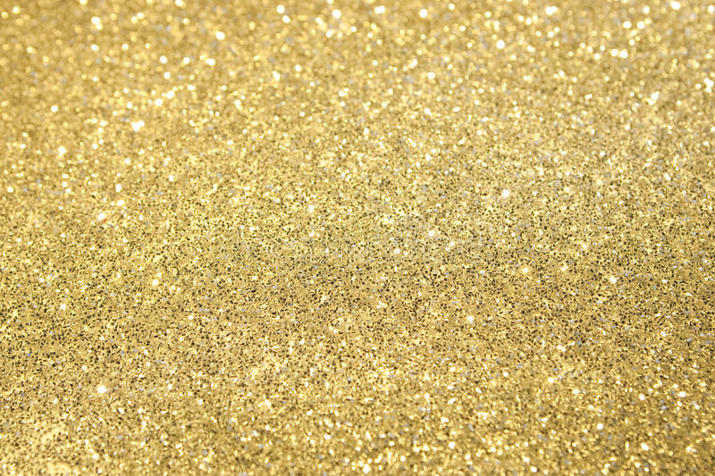 Foco seletivo do Glitter do ouro fotos de stock royalty free