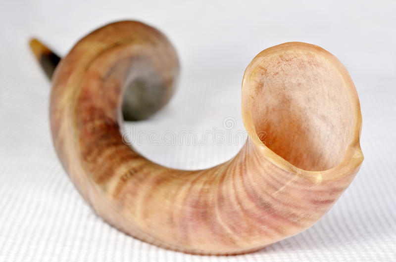 Foco seletivo do Shofar (chifre) foto de stock royalty free