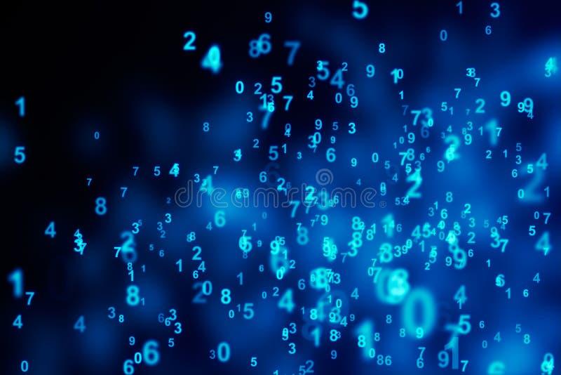Foco seletivo dos dígitos azuis ilustração royalty free