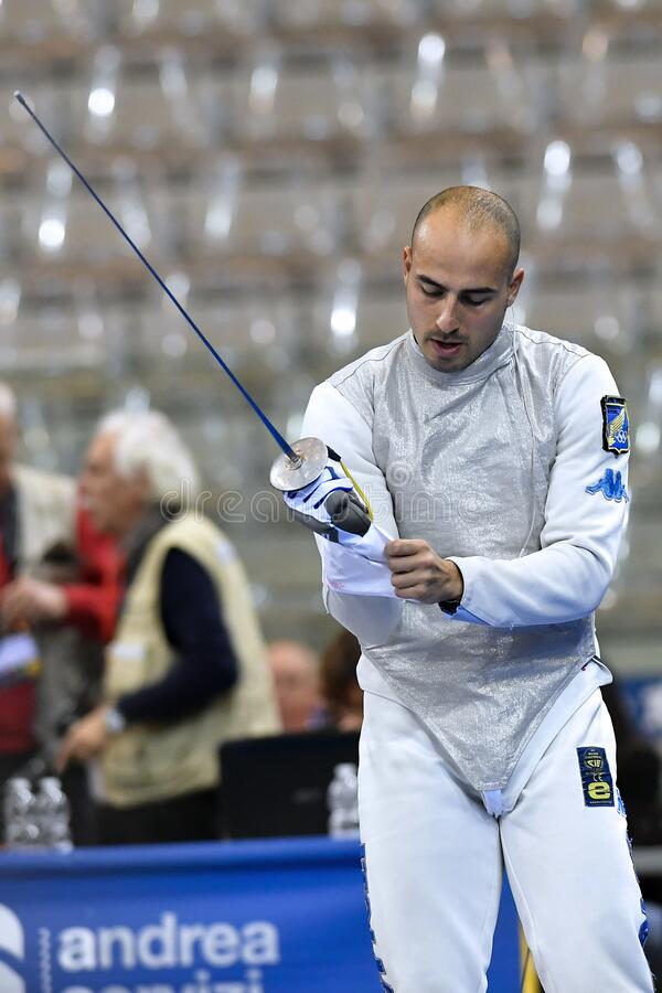 Sword FIE Fencing Grand Prix 2020 - Inalpi Trophy royalty free stock image