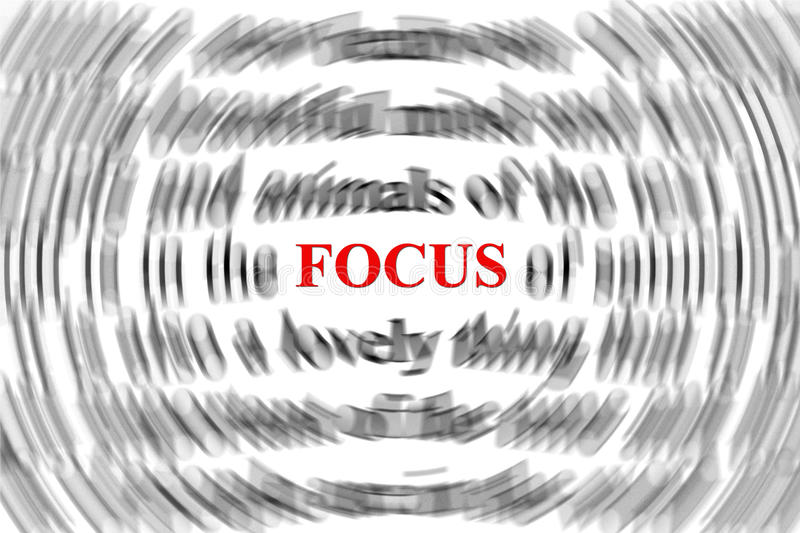 Focus. The  is only on the word , in red. Other words are blurry