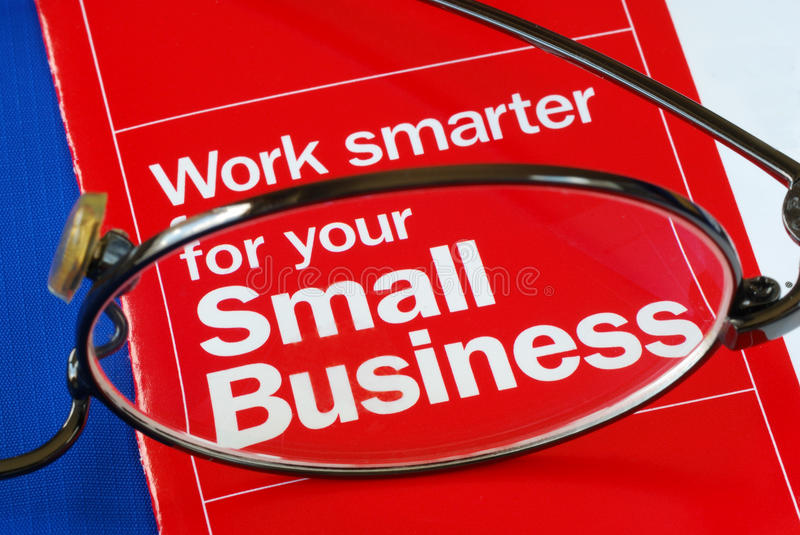 Focus on banking with Small Business stock image