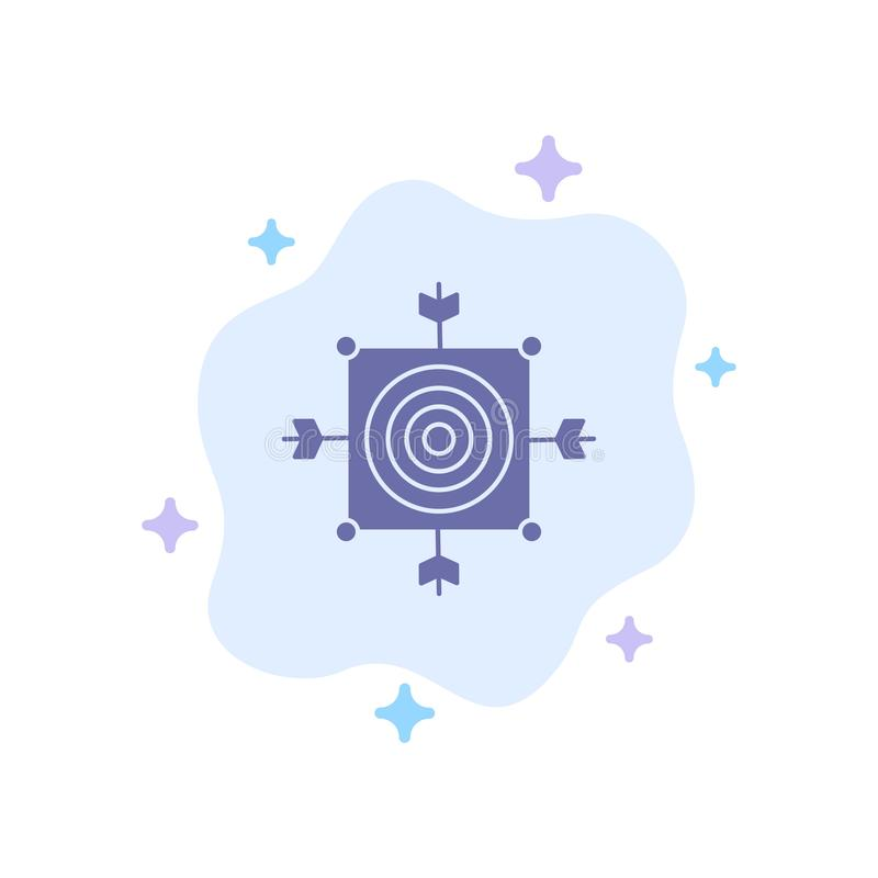 Focus, Board, Dart, Arrow, Target Blue Icon on Abstract Cloud Background royalty free illustration