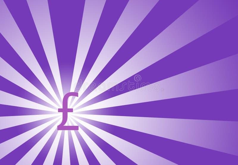 Focus on British Pound with Sunwave Background vector illustration