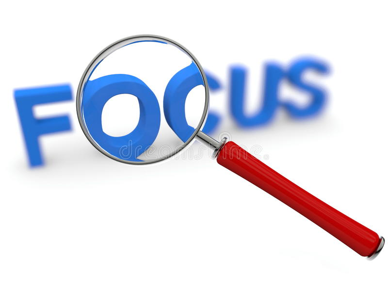 Download Focus Concept With Magnifier Stock Illustration - Illustration of success, background: 26081589