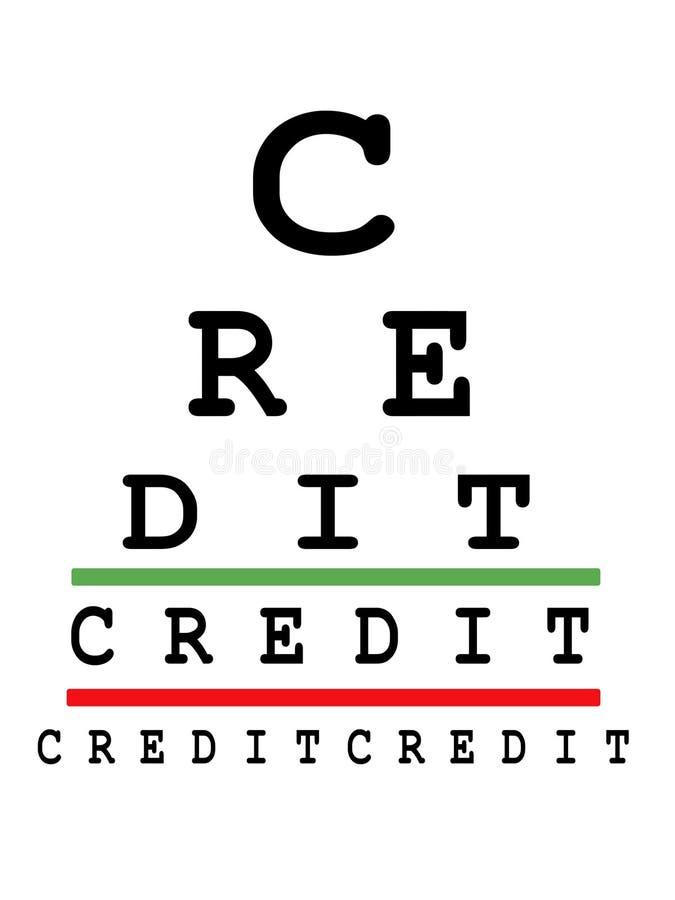 Focus on credit royalty free illustration