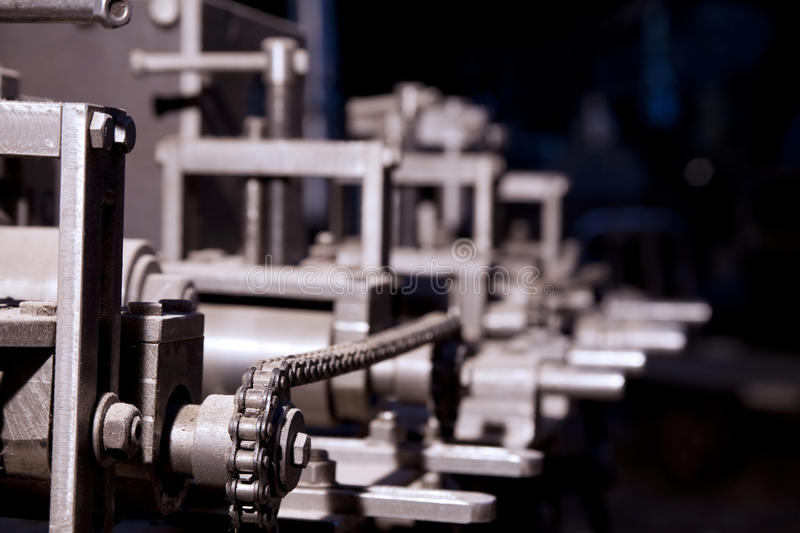 Download Focus On Detail Of Complex Machine Stock Photo - Image: 15681148