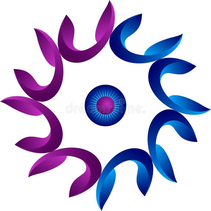 Focus flower logo stock illustration