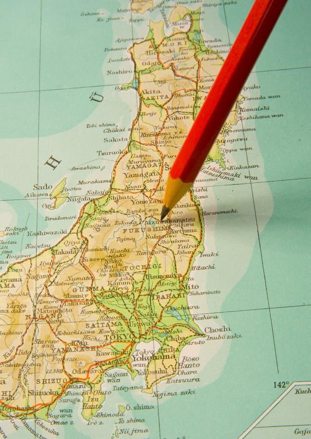 Focus on Fukishima Japan. stock images