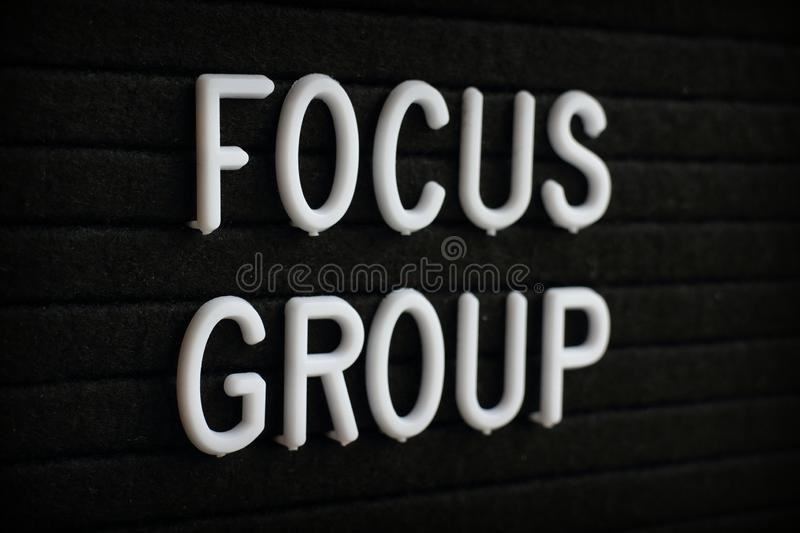 Focus Group Announcement on a Notice Board stock image