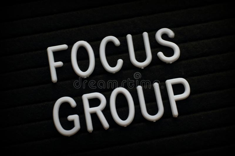 Focus Group Announcement on a Notice Board stock photo