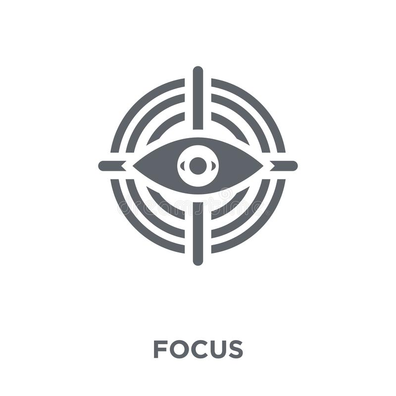 Focus icon from collection. royalty free illustration
