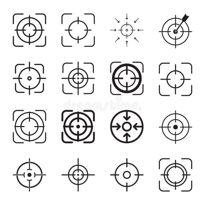 Focus icon, target icon, line  symbol stock illustration