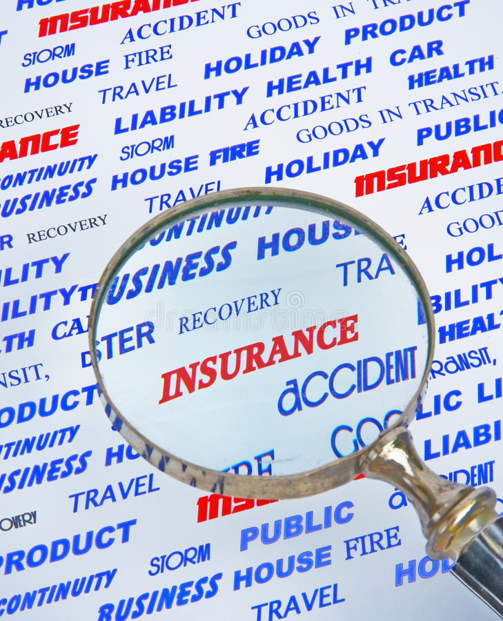 Focus on Insurance. royalty free stock photography