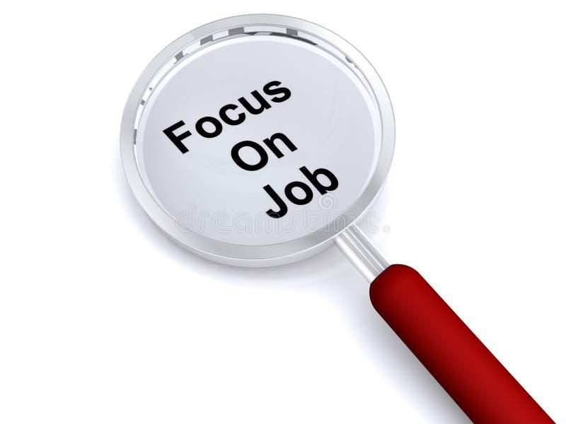 Download Focus on job stock illustration. Image of illustrated - 16089978