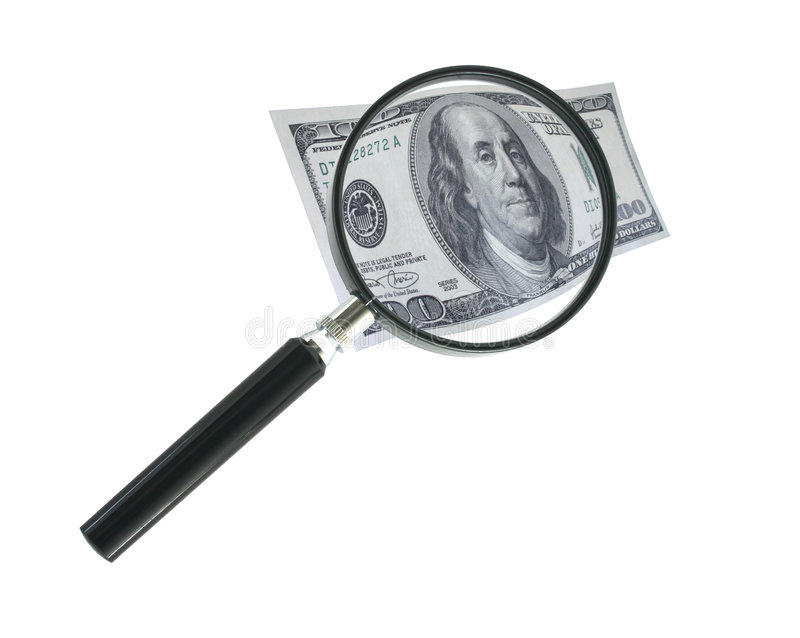 Download Focus on money stock photo. Image of enlarge, cost, bank - 1429974