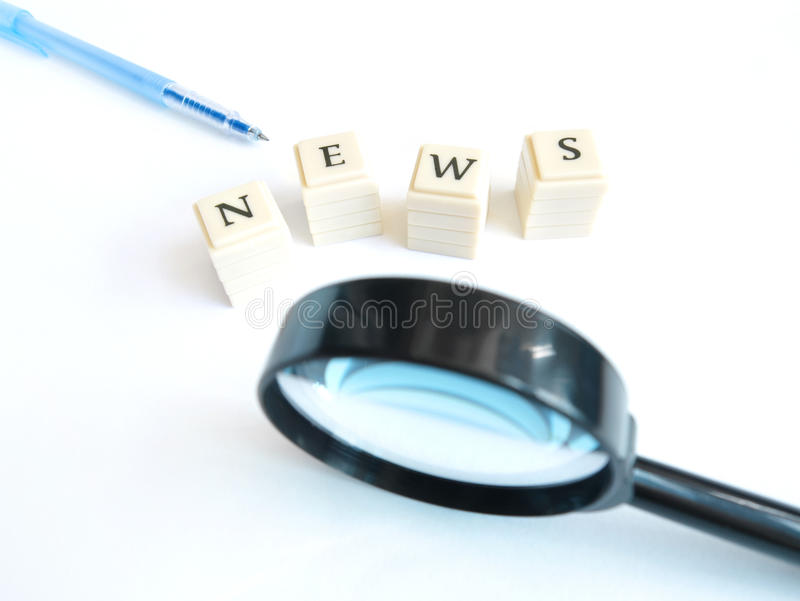 Download Focus on news stock image. Image of magnifier, copyspace - 13049507