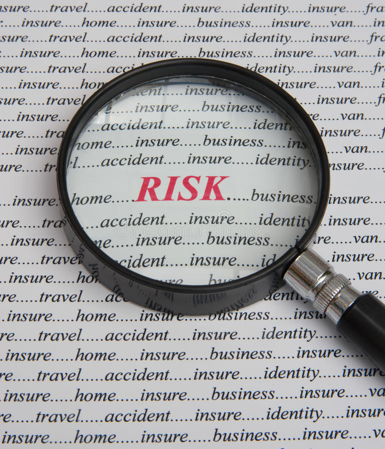 Free Focus On Risk: It Pays To Insure. Stock Photos - 14496823