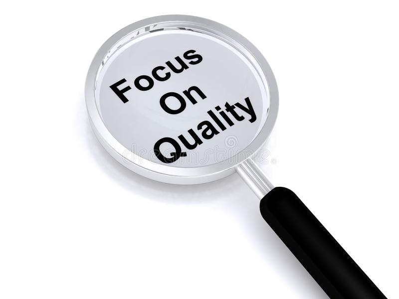 Focus on quality stock image