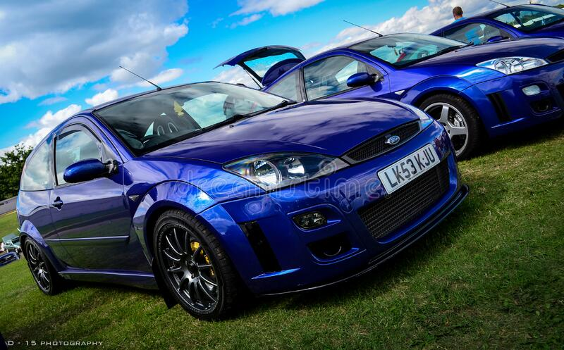 focus RS at silverstone stock images
