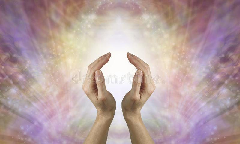 Focus on sending pure unconditional love healing energy stock images