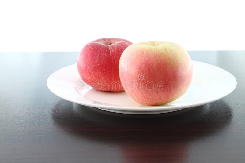 Focus soft near apple dish