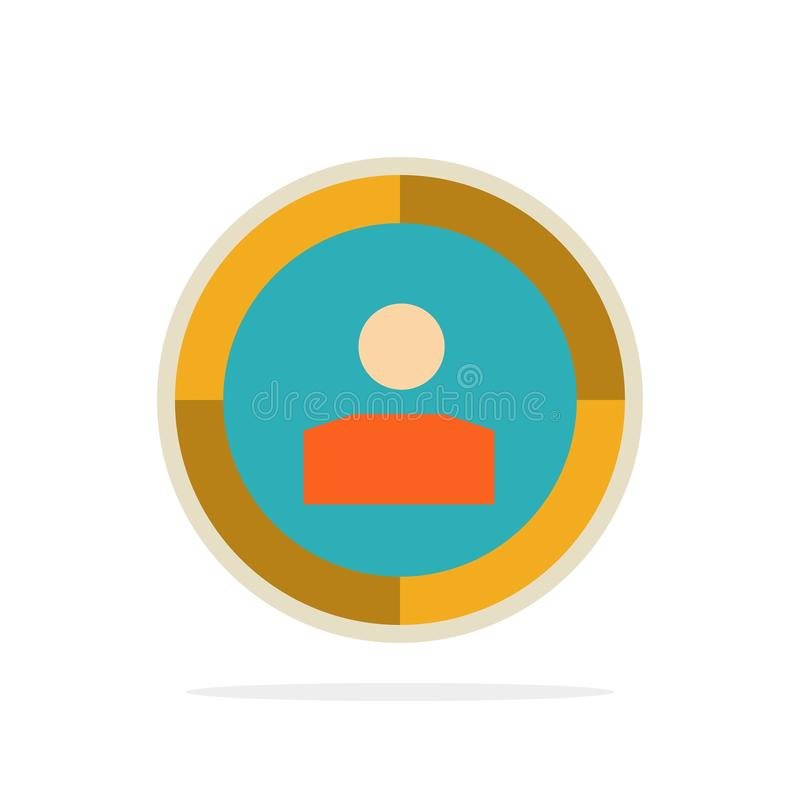 Focus, Target, Audience Targeting,  Abstract Circle Background Flat color Icon stock illustration
