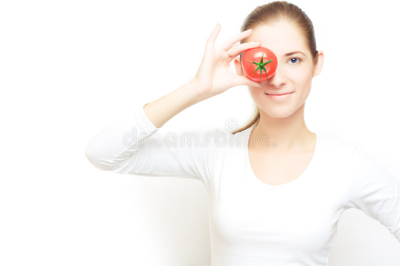 Focus on tomatoes royalty free stock image
