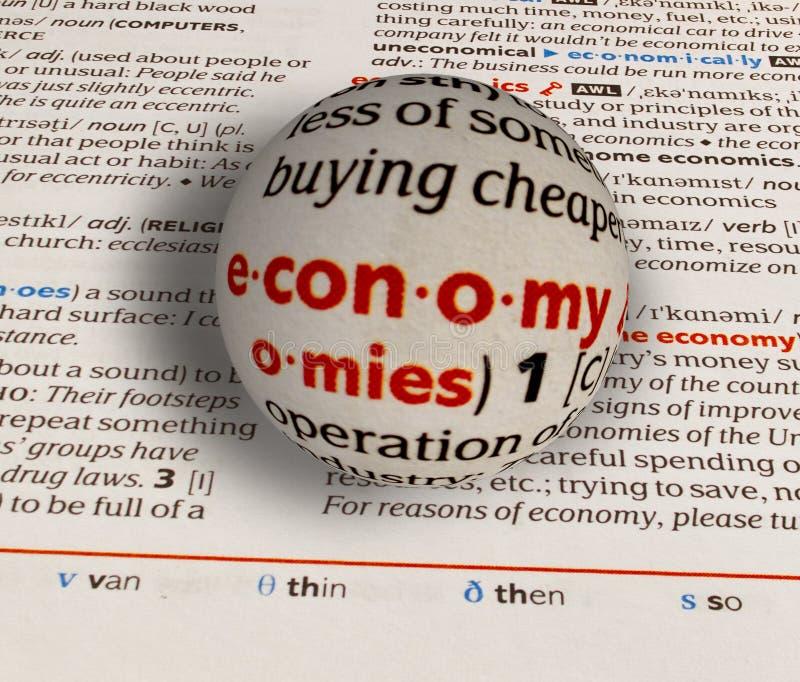 Focus on word economy royalty free stock image