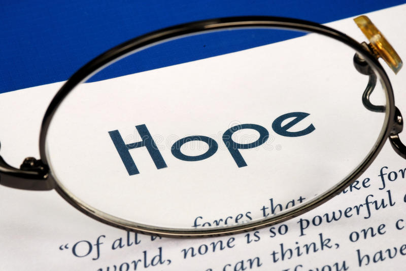 Download Focus On The Word Hope Royalty Free Stock Photography - Image: 27500237