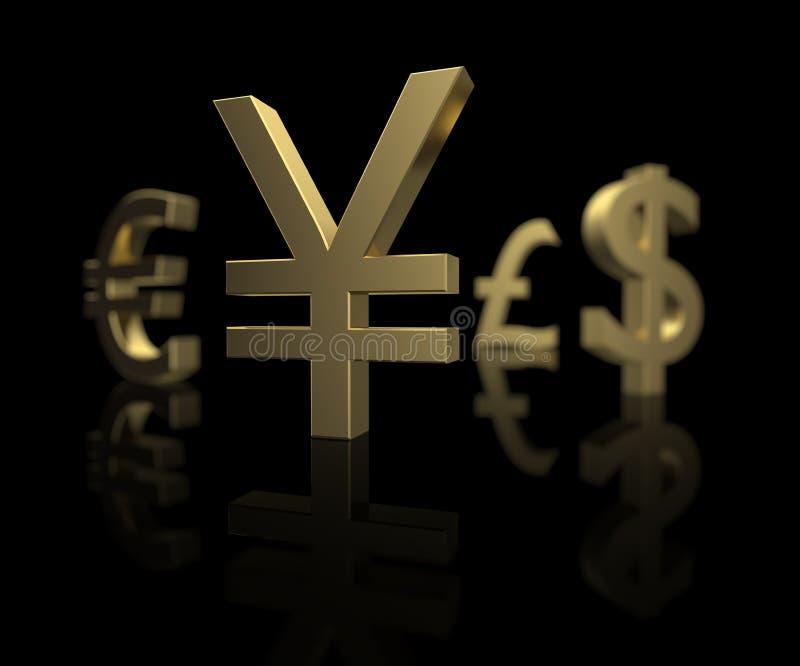 Download Focus on the Yen stock illustration. Image of economy - 9401305