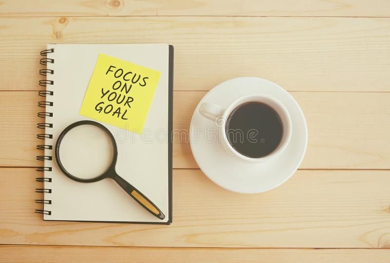 Focus on your goal quote royalty free stock photography