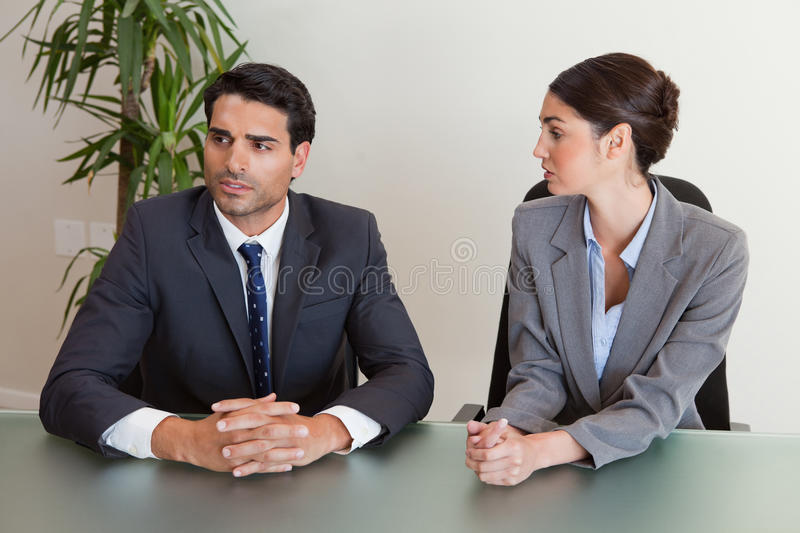 Focused Business People Negotiating Royalty Free Stock Images