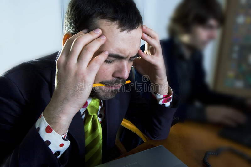 Focused businessman royalty free stock photos