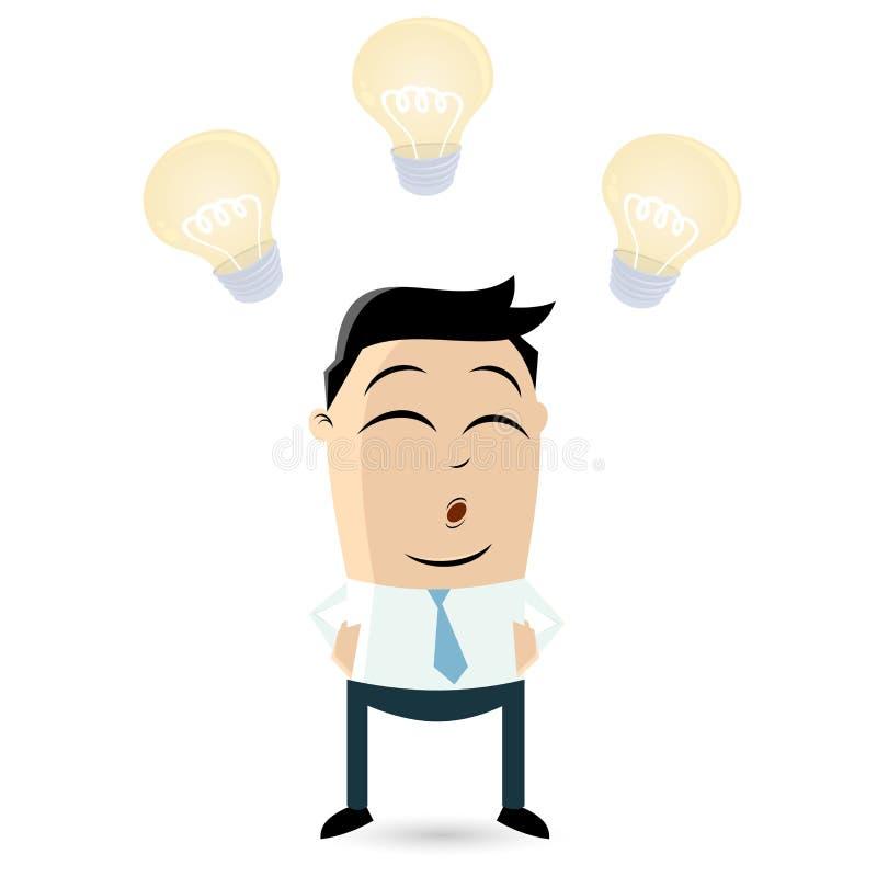 Focused businessman. Illustration of a focused businessman stock illustration