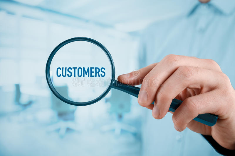 Focused on customers royalty free stock photo