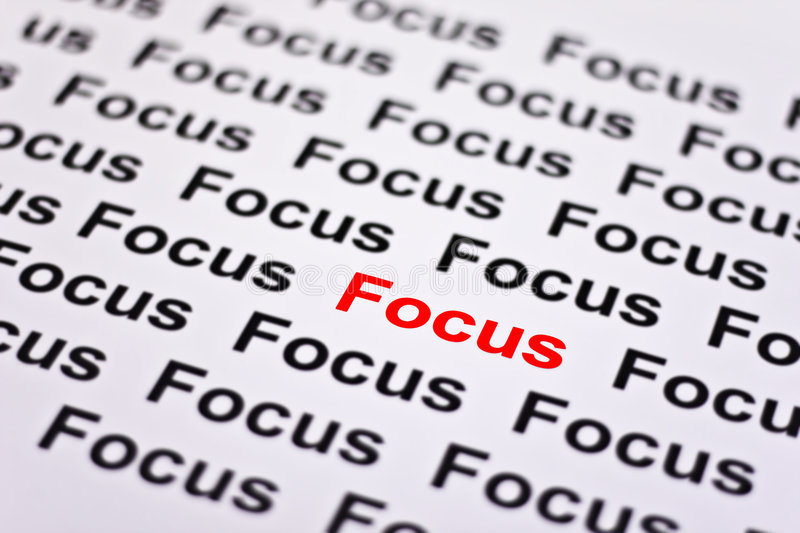 Focused on Focus royalty free stock image