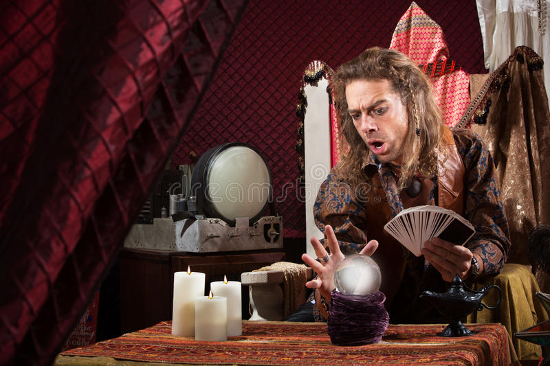 Download Focused Fortune Teller stock photo. Image of handsome - 31965334